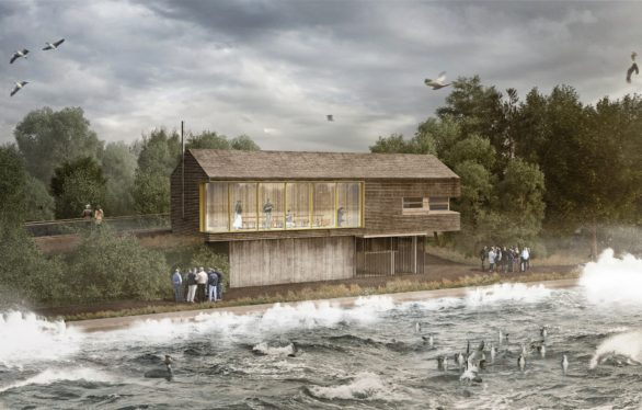 An artists impression of the new wildlife viewing centre at Tophill Low